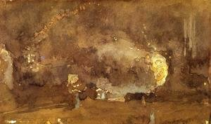 James Abbott McNeill Whistler - The Fire Wheel