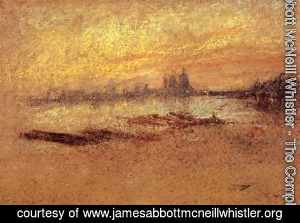 James Abbott McNeill Whistler - Red and Gold: Salute, Sunset