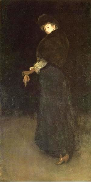 James Abbott McNeill Whistler - Arrangement in Black: The Lady in the Yellow Buskin