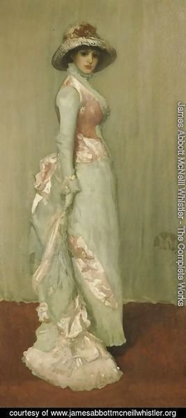 James Abbott McNeill Whistler - Harmony in Pink and Grey: Valerie, Lady Meux