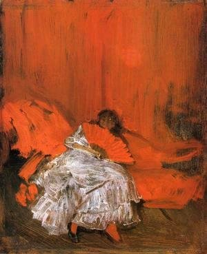 James Abbott McNeill Whistler - Red and Pink: The Little Mephisto