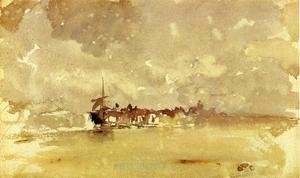 James Abbott McNeill Whistler - Gold and Grey: the Sunny Shower - Dordrecht