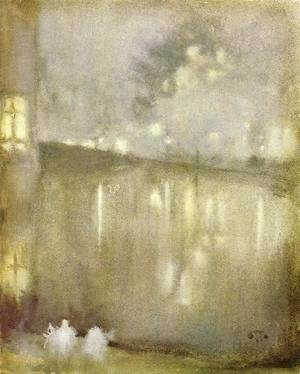 James Abbott McNeill Whistler - Nocturne: Grey and Gold - Canal, Holland