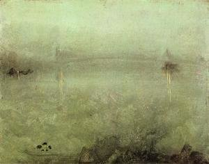 James Abbott McNeill Whistler - Nocturne: Silver and Opal