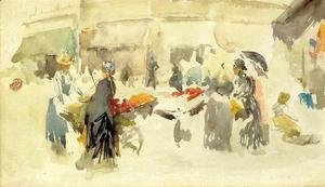 James Abbott McNeill Whistler - Flower Market