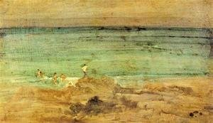James Abbott McNeill Whistler - Violet and Blue: The Little Bathers, Perosquerie