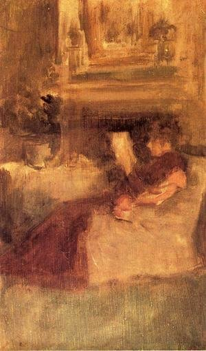 James Abbott McNeill Whistler - Miss Ethel Philip Reading