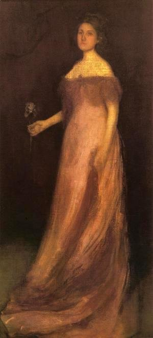 James Abbott McNeill Whistler - Rose and Green: The Iris - Portrait of Miss Kinsella