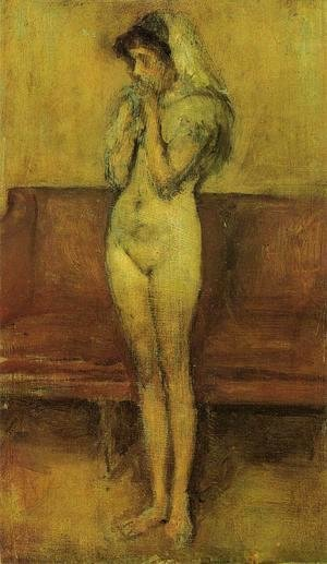 James Abbott McNeill Whistler - Rose and Brown: La Cigale