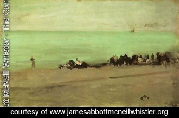 James Abbott McNeill Whistler - Blue and Silver: Boat Entering Pourville