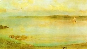 James Abbott McNeill Whistler - Gray and Gold - The Golden Bay