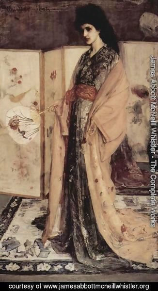 "James Abbott McNeill Whistler - Sketch for ""Rose and Silver: La Princesse du Pays de la Porcelaine"""