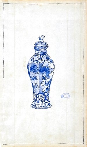 James Abbott McNeill Whistler - Blue and White Covered Urn