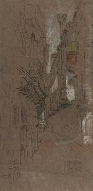James Abbott McNeill Whistler - Street in Venice