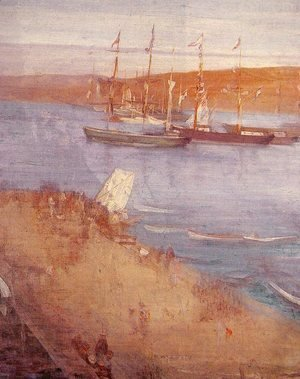 James Abbott McNeill Whistler - The Morning after the Revolution, Valparaiso