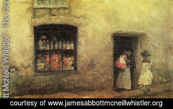 James Abbott McNeill Whistler - An Orange Note, Sweet Shop