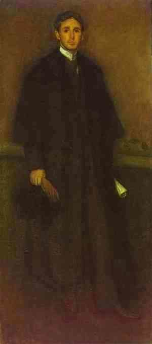 James Abbott McNeill Whistler - Arrangement in Flesh Colour and Brown, Portrait of Arthur J. Eddy