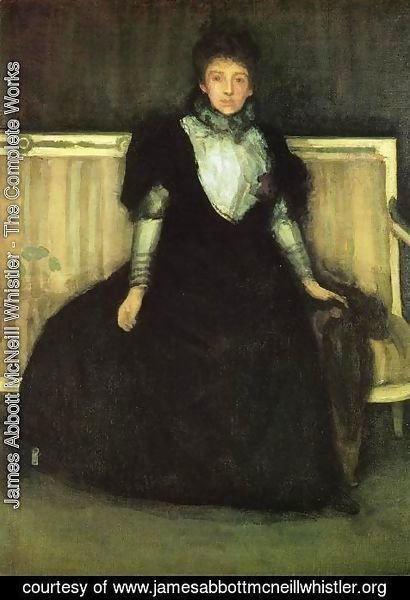 James Abbott McNeill Whistler - Green and Violet, Portrait of Mrs. Walter Sickert