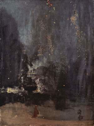James Abbott McNeill Whistler - Night in Black and Gold, The falling Rocket