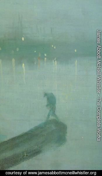 James Abbott McNeill Whistler - Nocturne in Blue and Gold, Old Battersea Bridge (detail)