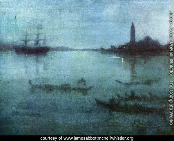 Nocturne in Blue and Silver, The Lagoon, Venice