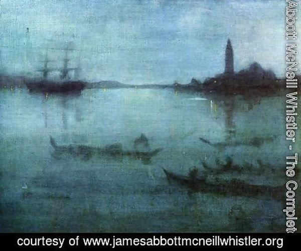 James Abbott McNeill Whistler - Nocturne in Blue and Silver, The Lagoon, Venice