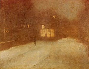 James Abbott McNeill Whistler - Nocturne, Grey and Gold