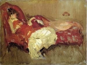 James Abbott McNeill Whistler - Note in Red, The Siesta