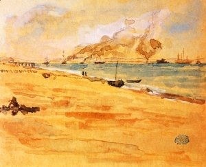 James Abbott McNeill Whistler - Study for 'Mouth of the River'