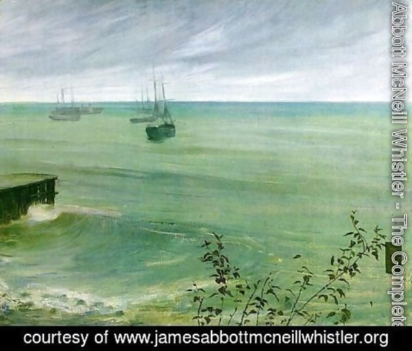 James Abbott McNeill Whistler - Symphony in Grey and Green, The Ocean