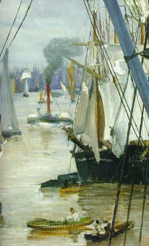 James Abbott McNeill Whistler - Wapping on Thames (detail)