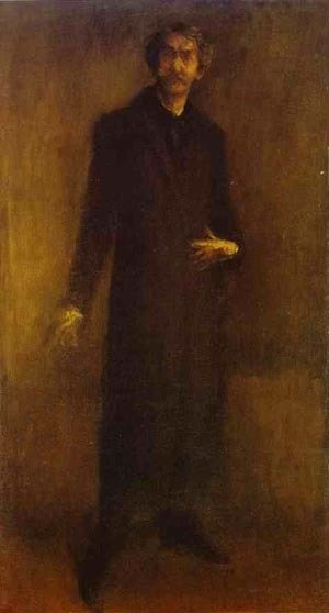 James Abbott McNeill Whistler - Brown And Gold (Self Portrait) 1895-1900