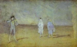 James Abbott McNeill Whistler - Harmony In Blue The Duet 1878