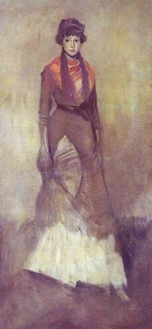 James Abbott McNeill Whistler - Harmony In Fawn Color And Purple Portrait Of Miss Milly Finch 1885