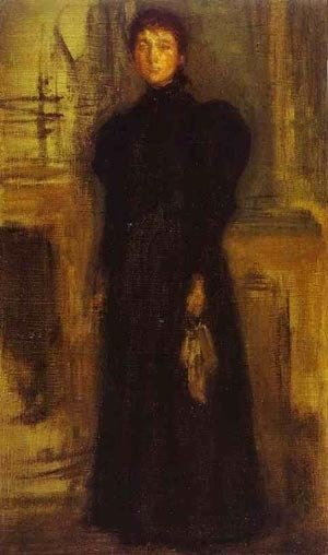 James Abbott McNeill Whistler - Miss Rosalind Birnie Philip Standing 1897