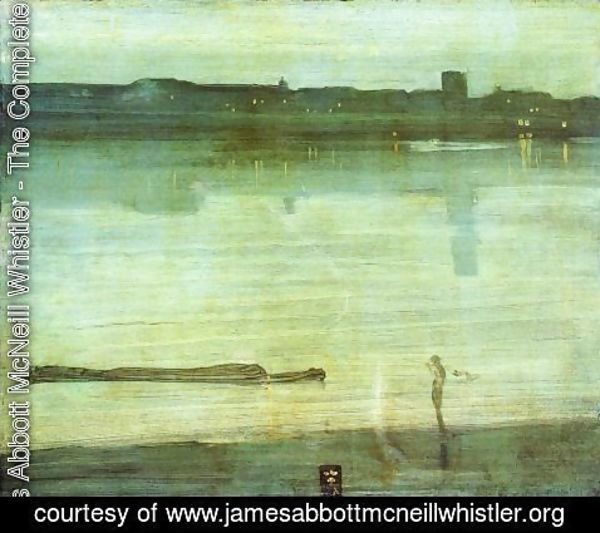 James Abbott McNeill Whistler - Nocturne In Blue And Green Chelsea 1870