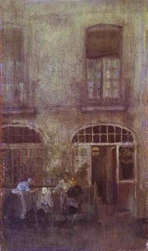 James Abbott McNeill Whistler - White And Grey The Hotel Courtyard Dieppe 1885