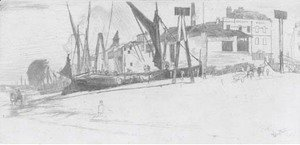 James Abbott McNeill Whistler - Chelsea wharf