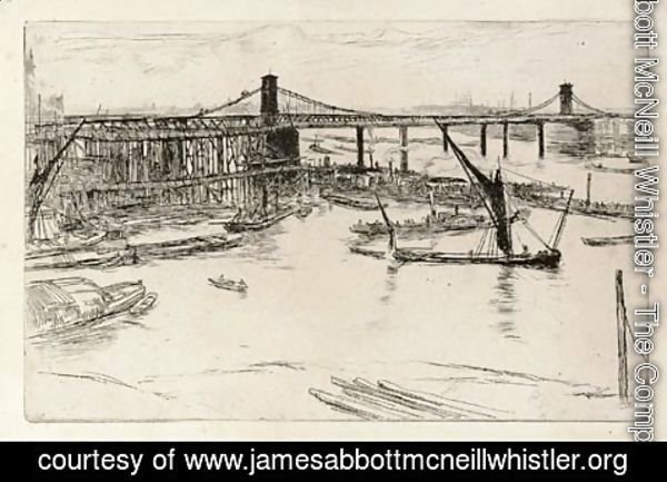 James Abbott McNeill Whistler - Old Hungerford Bridge