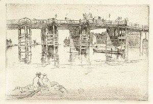 James Abbott McNeill Whistler - Old Putney Bridge