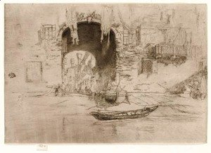 James Abbott McNeill Whistler - San Biagio, from Twenty Six Etchings