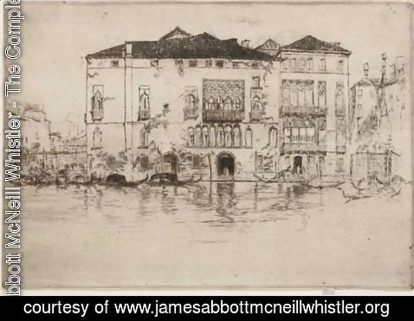 James Abbott McNeill Whistler - The Palaces, from Venice
