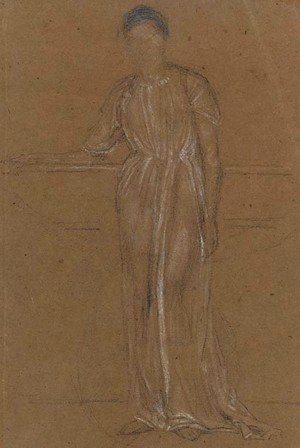 James Abbott McNeill Whistler - Draped Figure, Standing