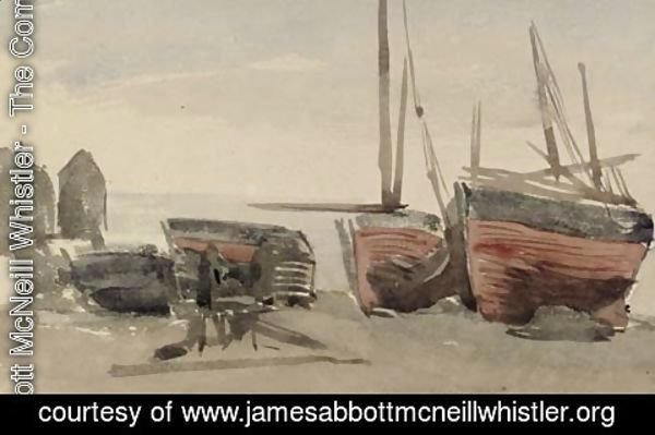 James Abbott McNeill Whistler - Hastings fishing boats