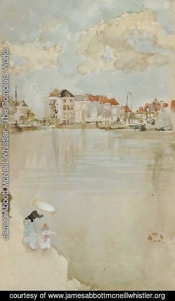 James Abbott McNeill Whistler - Note in Rose and Silver--Dordrecht
