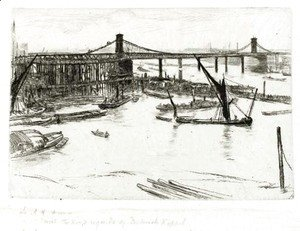 James Abbott McNeill Whistler - Old Hungerford Bridge 2
