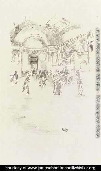 James Abbott McNeill Whistler - The Long Gallery, Louvre