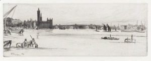 James Abbott McNeill Whistler - Old Westminster Bridge