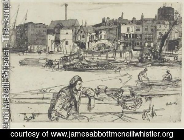 James Abbott McNeill Whistler - Black Lion Wharf 3