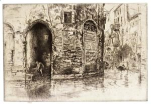James Abbott McNeill Whistler - Two Doorways